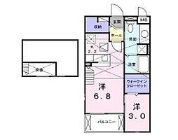 グランツD[2階]の間取り