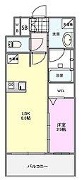 JR鹿児島本線 竹下駅 徒歩19分の賃貸マンション 10階1LDKの間取り