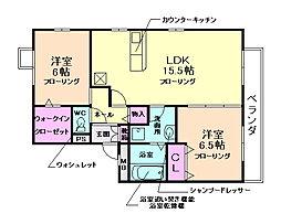 大阪府豊中市柴原町2丁目の賃貸アパートの間取り