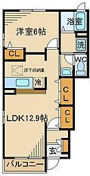 JR南武線 矢野口駅 徒歩11分の賃貸アパート 1階1LDKの間取り