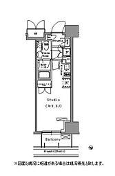 Park Axis 台東根岸[8階]の間取り