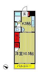 ヤマサイコーポ11号棟[1階]の間取り