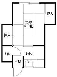 中澤荘[1階]の間取り