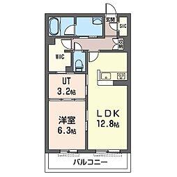 藤沢市湘南台1丁目マンション(仮) 4階1LDKの間取り