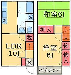 [テラスハウス] 千葉県千葉市緑区おゆみ野中央6丁目 の賃貸【/】の間取り