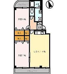 アステール[3階]の間取り