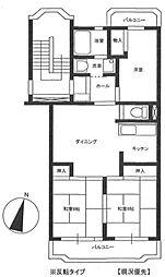 東京都羽村市富士見平1丁目の賃貸マンションの間取り
