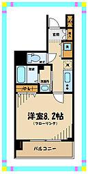 京王線 府中駅 徒歩4分の賃貸マンション 9階1Kの間取り