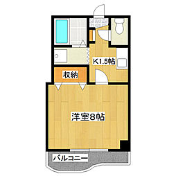 所ガーデンマンション[303号室]の間取り