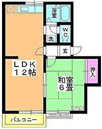 中島ハイム[2階]の間取り
