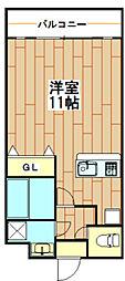 Liguria弐番館弐番館[3階]の間取り