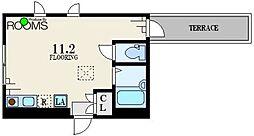 京王井の頭線 東松原駅 徒歩5分の賃貸アパート 1階ワンルームの間取り