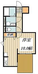 ベルフォーレ小金井公園(仮) 1階ワンルームの間取り