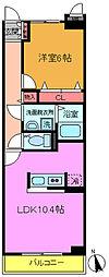千葉県市川市須和田2丁目の賃貸マンションの間取り