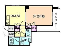 ODESSA北梅田[8階]の間取り