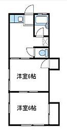 神奈川県厚木市寿町3丁目の賃貸アパートの間取り