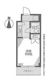 神奈川県横浜市青葉区あざみ野南2丁目の賃貸マンションの間取り