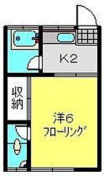 常盤台荘3号棟[8号室]の間取り