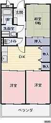長野県松本市井川城2丁目の賃貸マンションの間取り