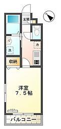 愛知県豊田市大林町12丁目の賃貸アパートの間取り