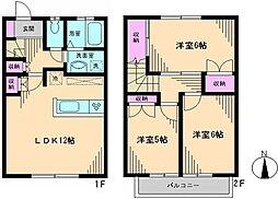 [テラスハウス] 東京都練馬区西大泉4丁目 の賃貸【/】の間取り