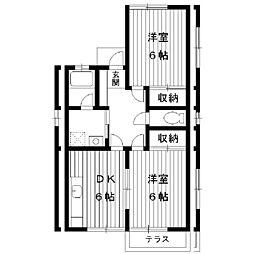 東京都練馬区高松4丁目の賃貸アパートの間取り