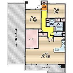 ウィズパーク大阪ガーデンコート[9階]の間取り