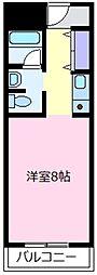天美ハイツ[4階]の間取り