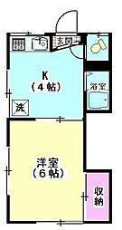 藤荘[206号室]の間取り