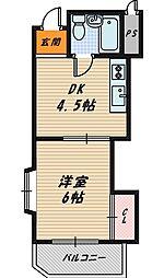 シャトー野江[4階]の間取り