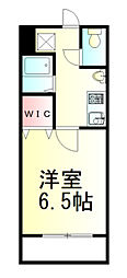 Fille Flats SHINSAYAMA 3階1Kの間取り