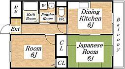 平成ハウス[4階]の間取り