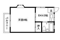 神奈川県川崎市宮前区東有馬5丁目の賃貸アパートの間取り