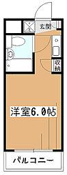 東京都東村山市諏訪町1丁目の賃貸マンションの間取り