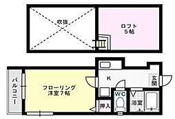 モンシャトー平尾[102号室]の間取り