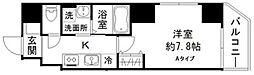 都営浅草線 蔵前駅 徒歩2分の賃貸マンション 2階1Kの間取り