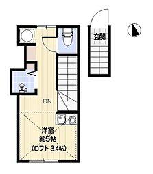 サラプリマベーラ[2階]の間取り