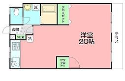 神奈川県平塚市立野町の賃貸マンションの間取り