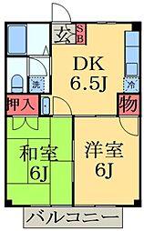 千葉県市原市五井の賃貸アパートの間取り