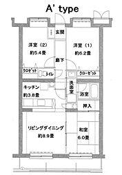 プラザサニーサイド[3階]の間取り