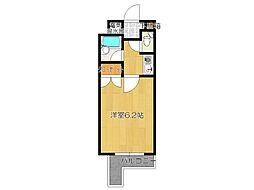 キャンパスシティ太宰府[611号室]の間取り