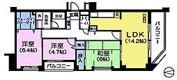 メルベーユ丸山台[6階]の間取り