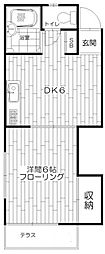東京都杉並区高円寺北1丁目の賃貸アパートの間取り