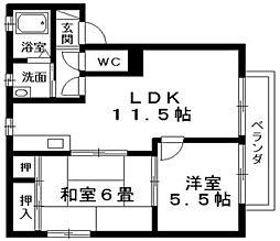 レジデンスTKA・B棟[1階]の間取り