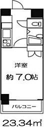 ドミール東日本橋[13階]の間取り