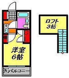 ジュネパレス津田沼第28[2階]の間取り