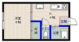 フルーツハウス[101号室]の間取り