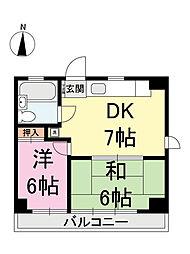 第2むさしマンション[4階]の間取り