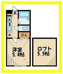 AZEST-RENT中野島2 1階1Kの間取り