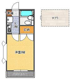 静岡県静岡市葵区安東2丁目の賃貸アパートの間取り